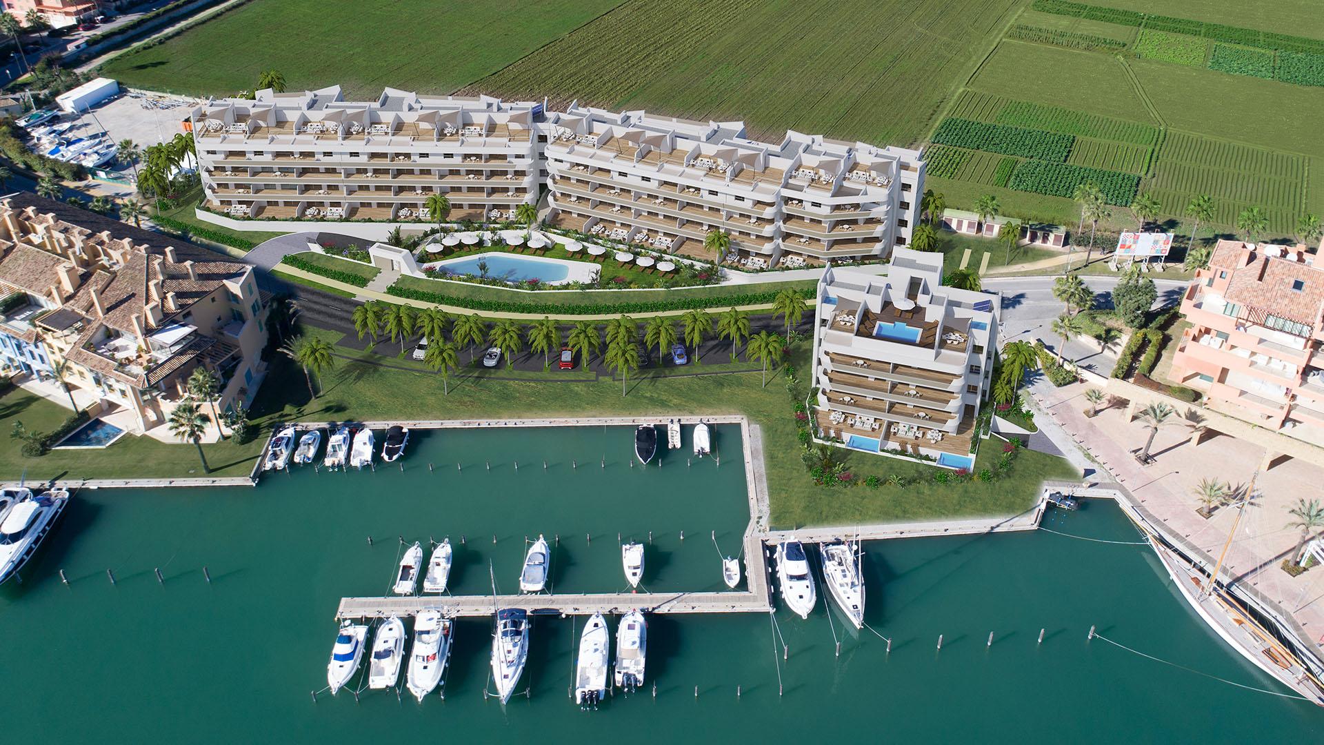 Pier 1: Exclusieve appartementen en één penthouse in de haven van Sotogrande