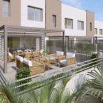 woningen met grote terrassen
