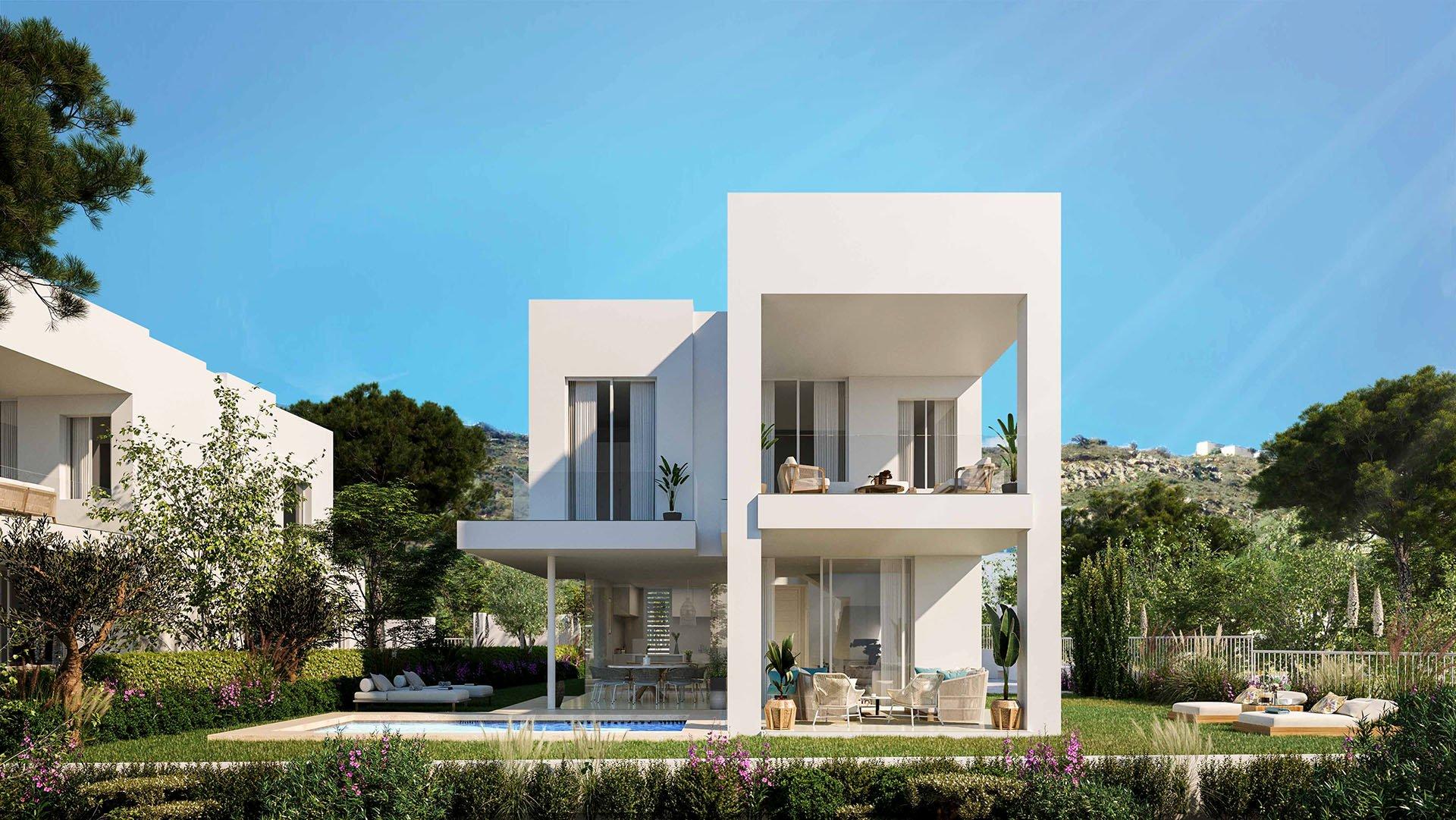 Azata Bay: Moderne villa in Sotogrande met panoramisch zeezicht