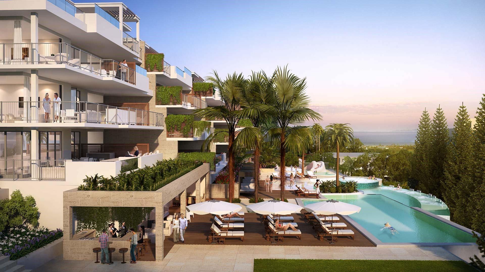 Lotus Jardinana: Moderne penthouses in Mijas met resort voorzieningen