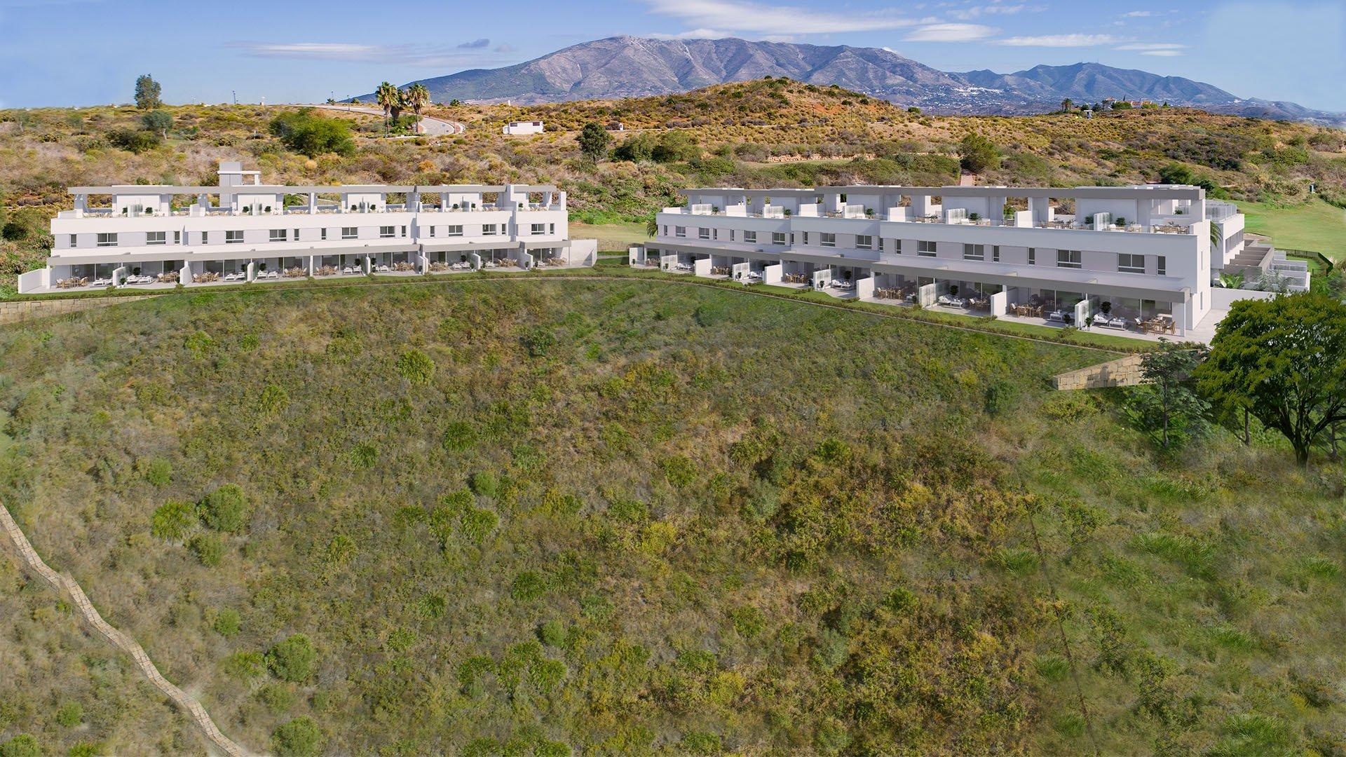 Natura – La Cala Golf: Townhouses in La Cala Golf Resort omringt met een idyllisch landschap