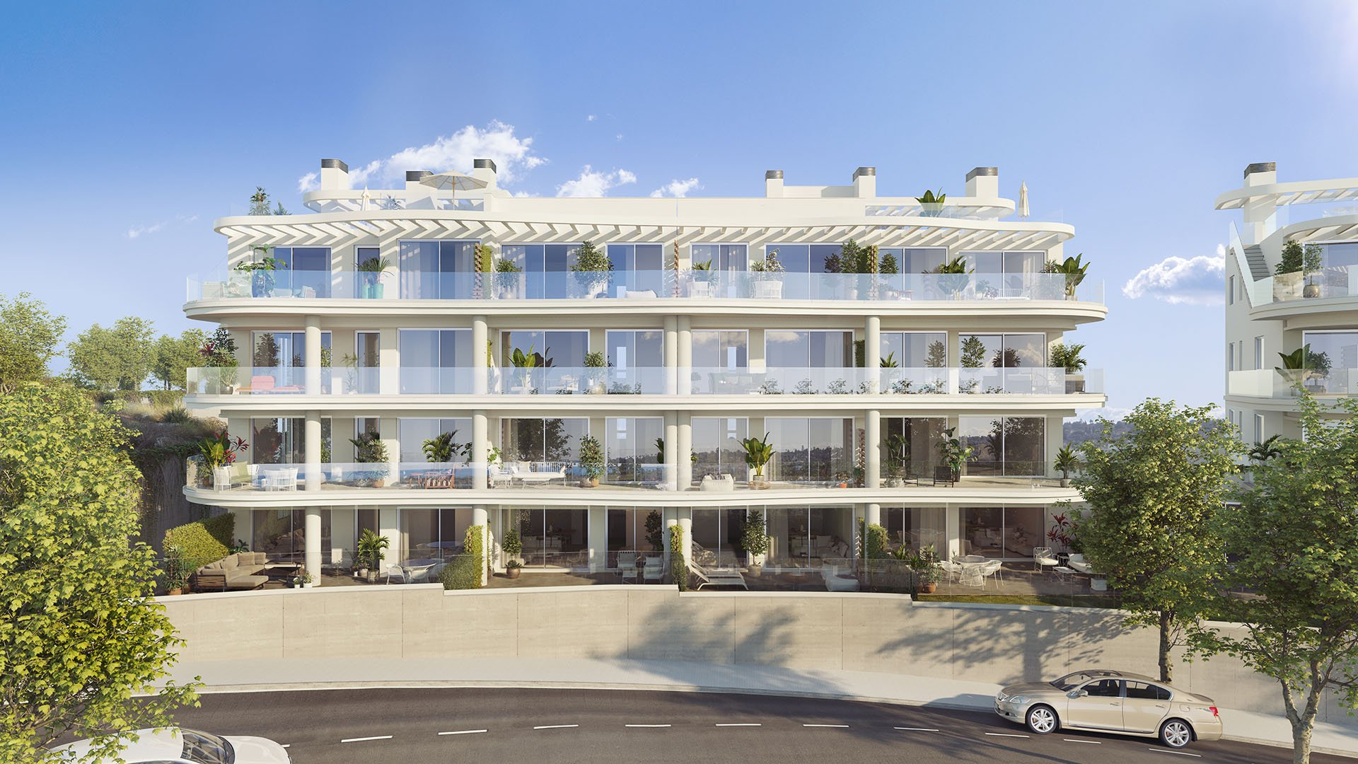 Panorama: Penthouses with panoramic view close to the beach