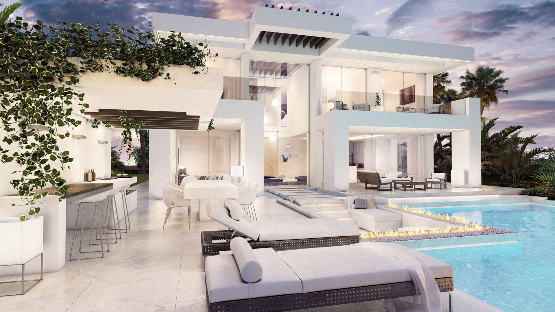 Riviera del Sol: Contemporary villa with impressive sea view