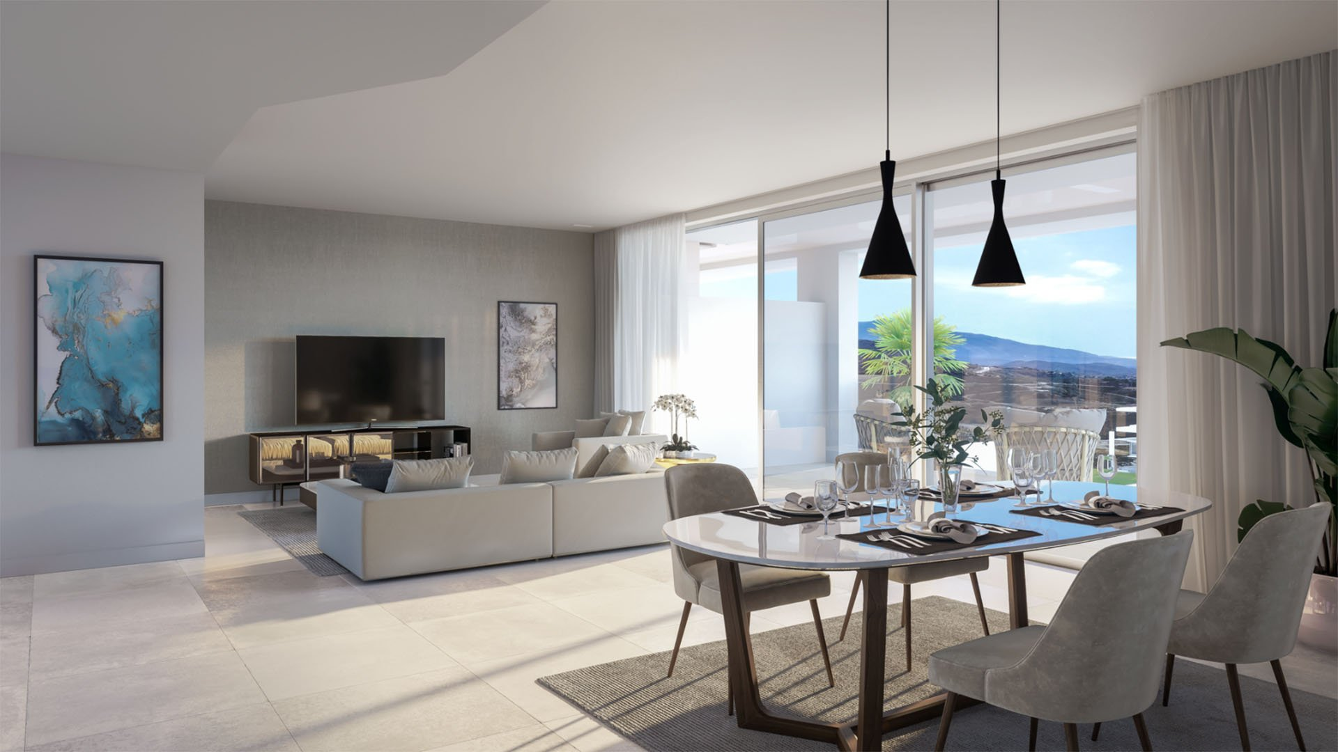 Soul Marbella Sunset: Houses with stunning views on golf & Mediterranean Sea