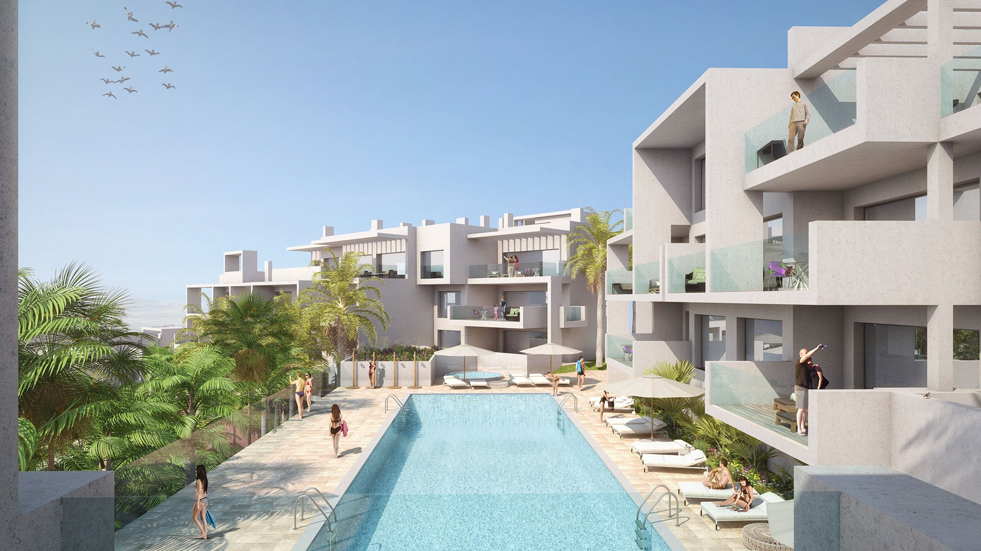Scenic: Luxury apartments within walking distance from Estepona city center and the beach