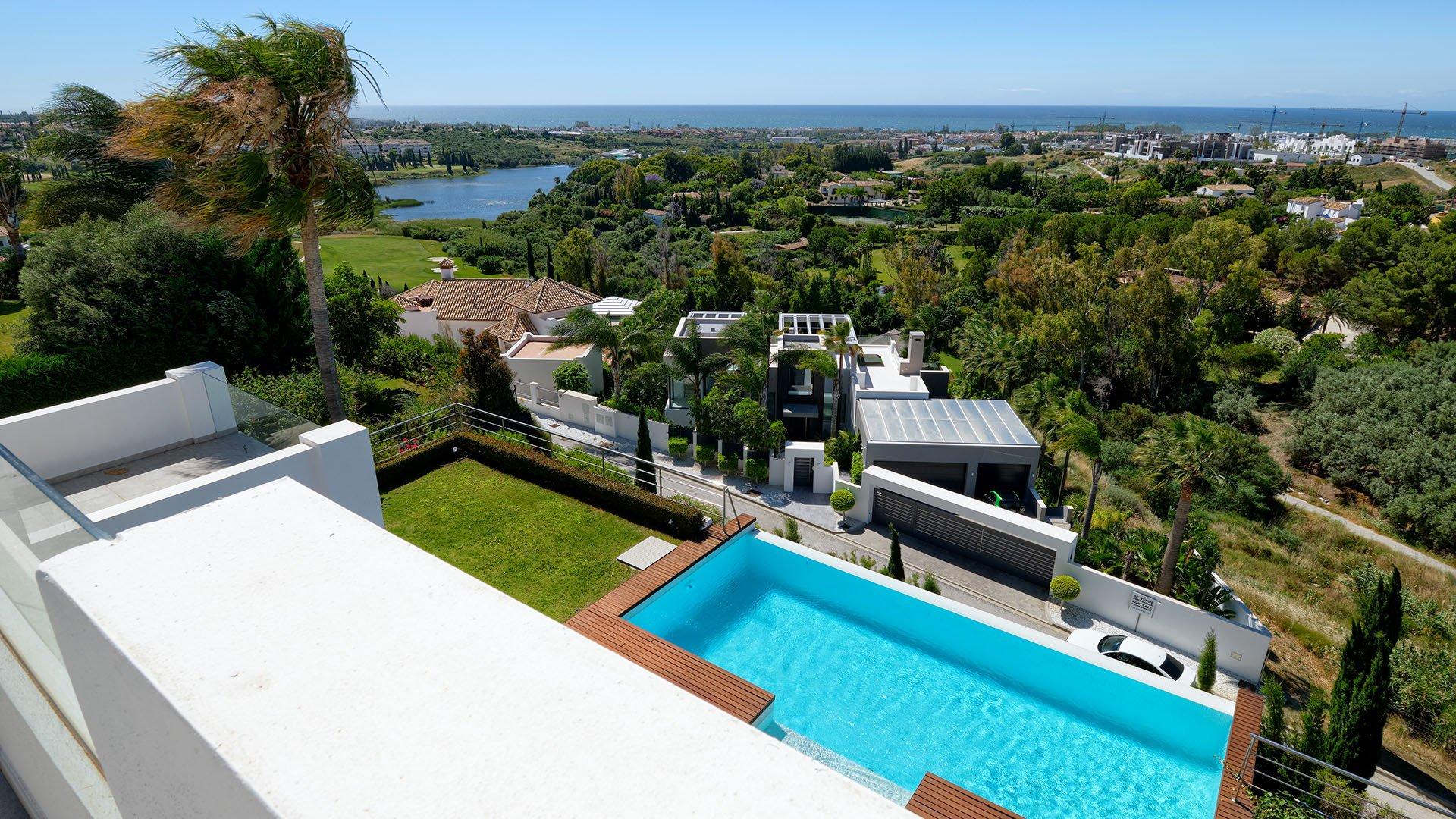 Villa Los Flamingos 22: Moderne villa met onovertroffen panoramisch uitzicht op zee en kust