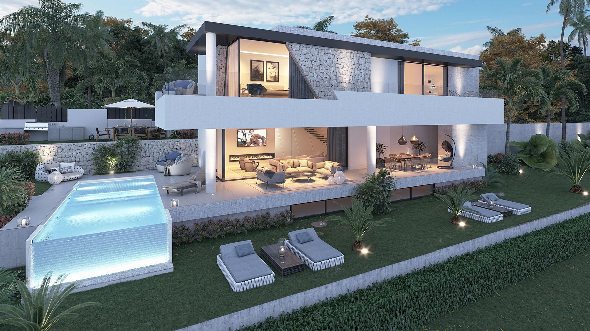 Villa's Fusion: Op maat gemaakte vrijstaande villa aan de New Golden Mile