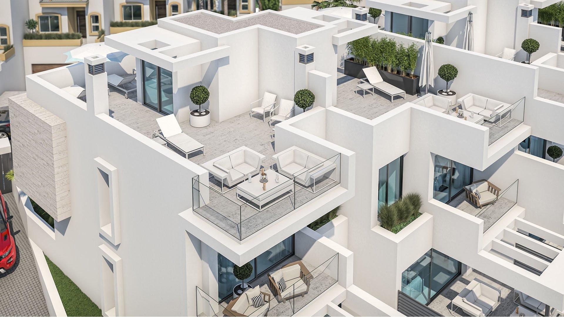 West Beach: Boutique project met 6 woningen vlak naast het strand van Estepona