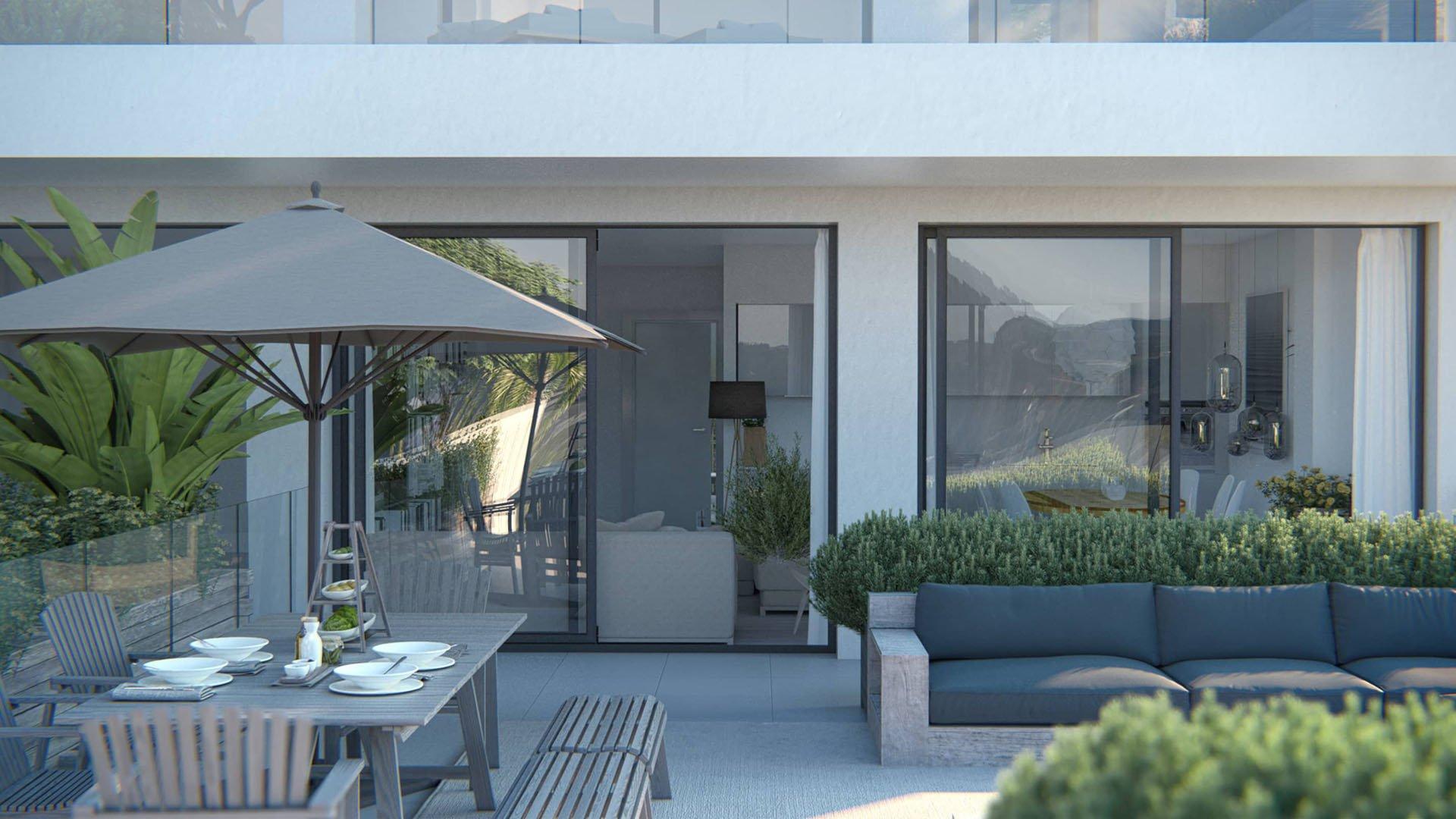 Casa Banderas: Gunstig gelegen appartementen met zeezicht te Mijas